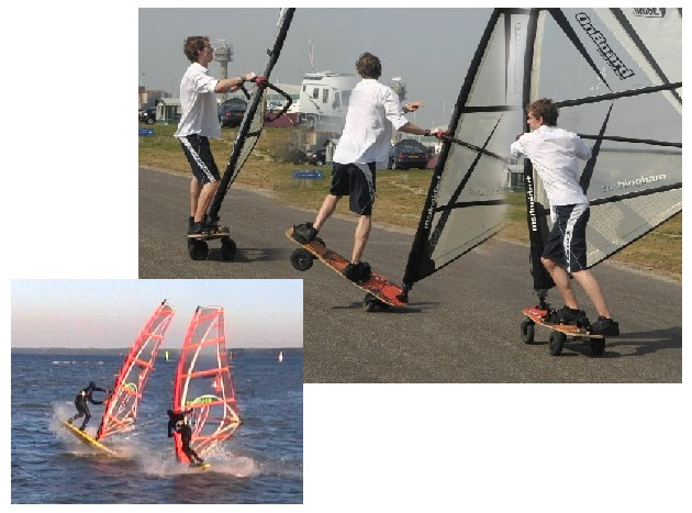 Vulcan technique on TurfDog land windsurfer